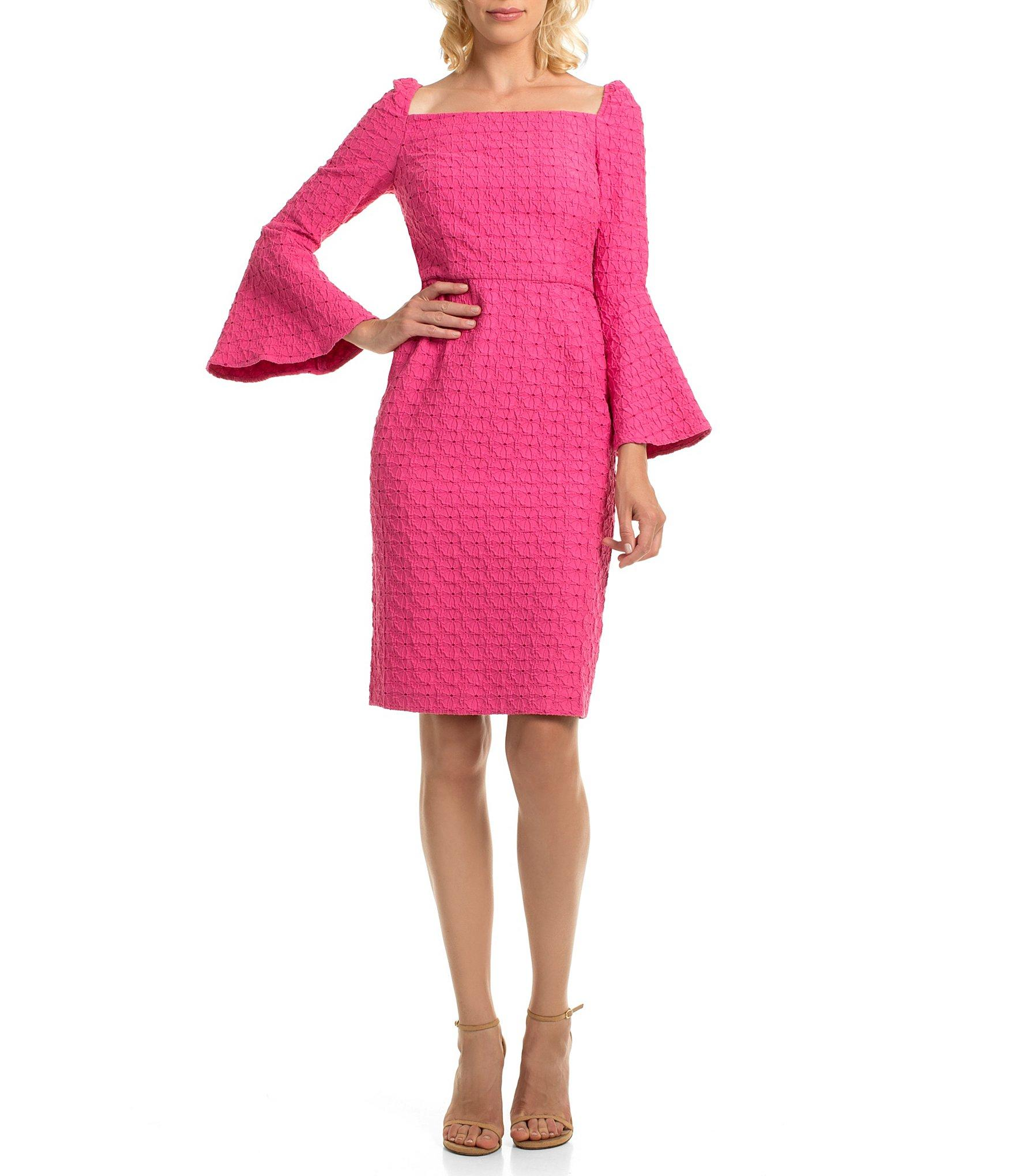 01b53f60 Trina Turk - Pink Trina Square Neck Bell Sleeve Sheath Dress - Lyst. View  fullscreen