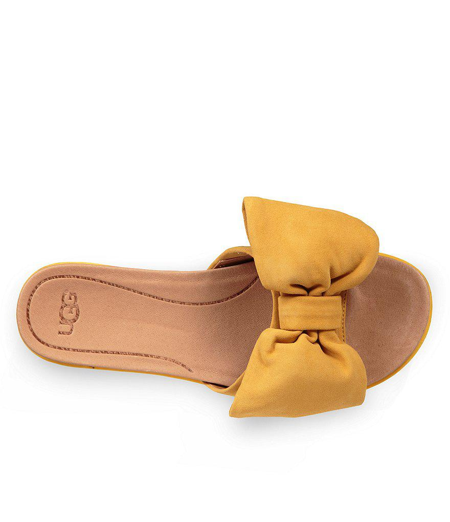 Joan Suede Bow Slides