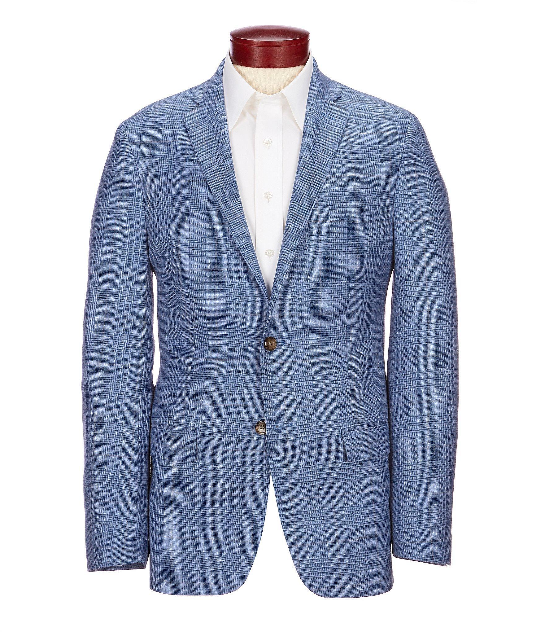 5ab2ec3c42b2 Lyst - Ralph By Ralph Lauren Slim Fit Plaid Sportcoat in Blue for Men