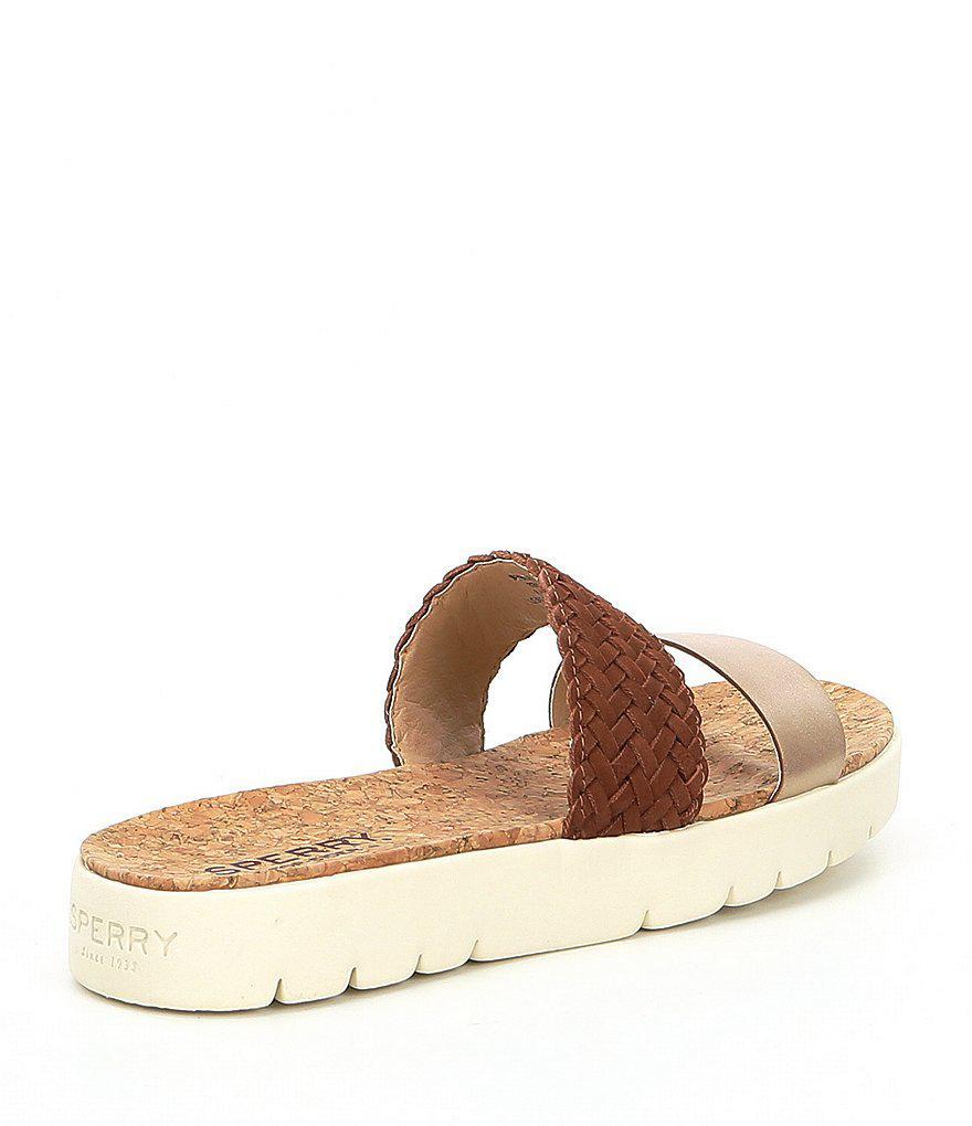 Sunkiss Pearl Woven Braid Detail Slide Sandals XtXv9aG9