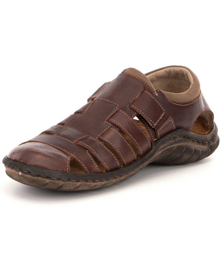 Mens Nico 19 Closed Toe Sandals, Brown Josef Seibel