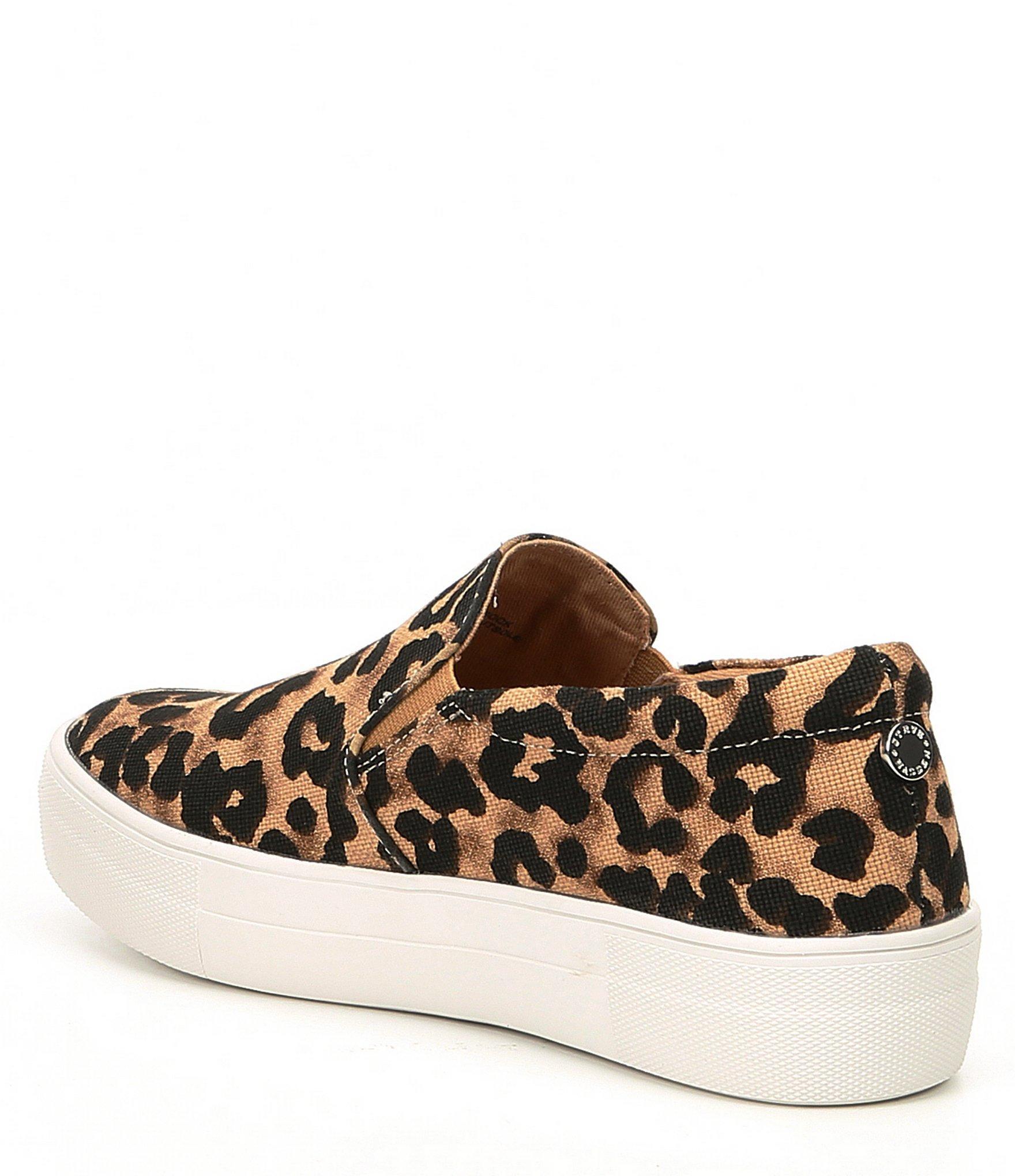 795cd285944 Steve Madden Gills Leopard Print Platform Sneakers in Brown - Lyst