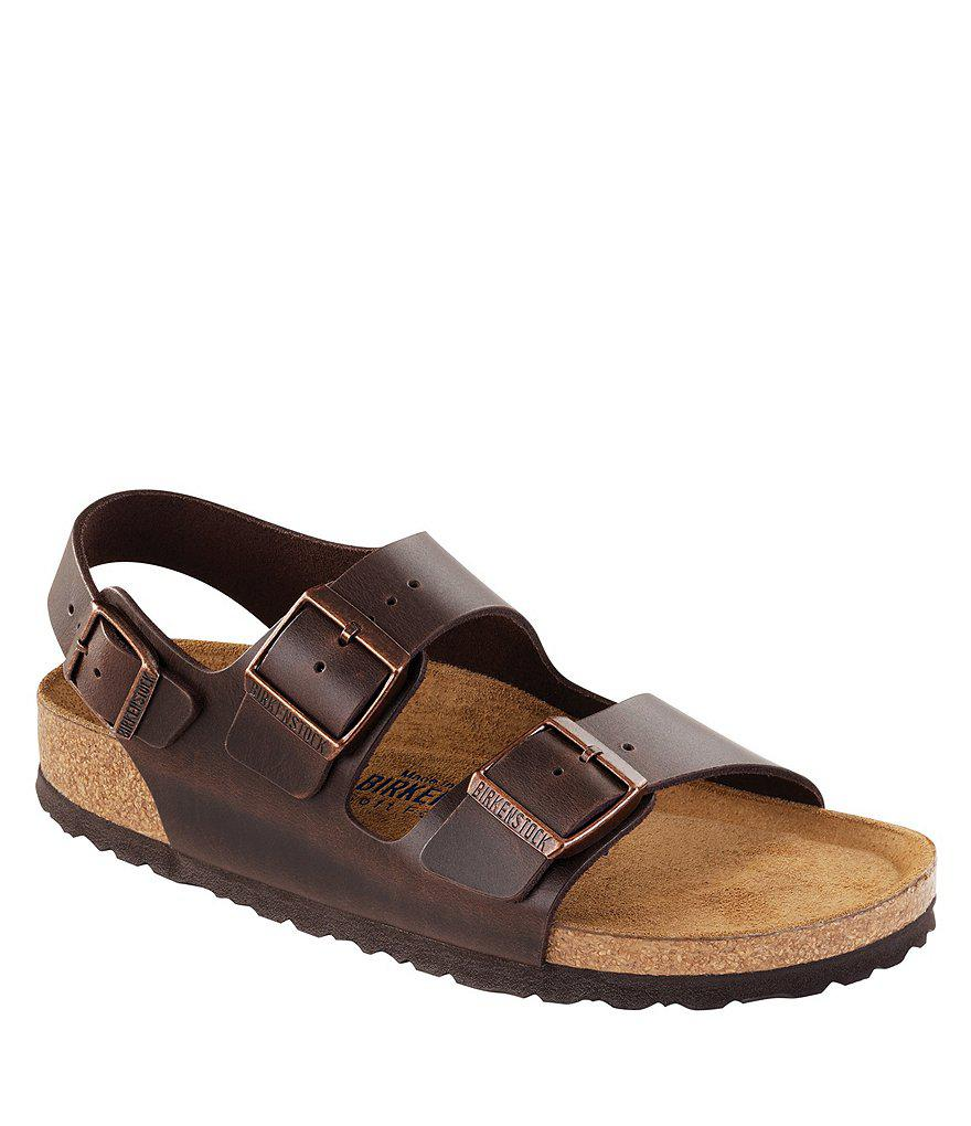 d8db7903bca5 Birkenstock - Black Milano Leather Sandals - Lyst. View fullscreen
