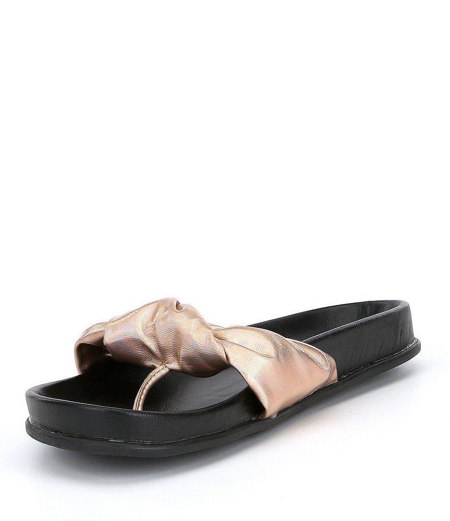 Volatile Glaze Knot Flat Sandals x35OJZxn4Y