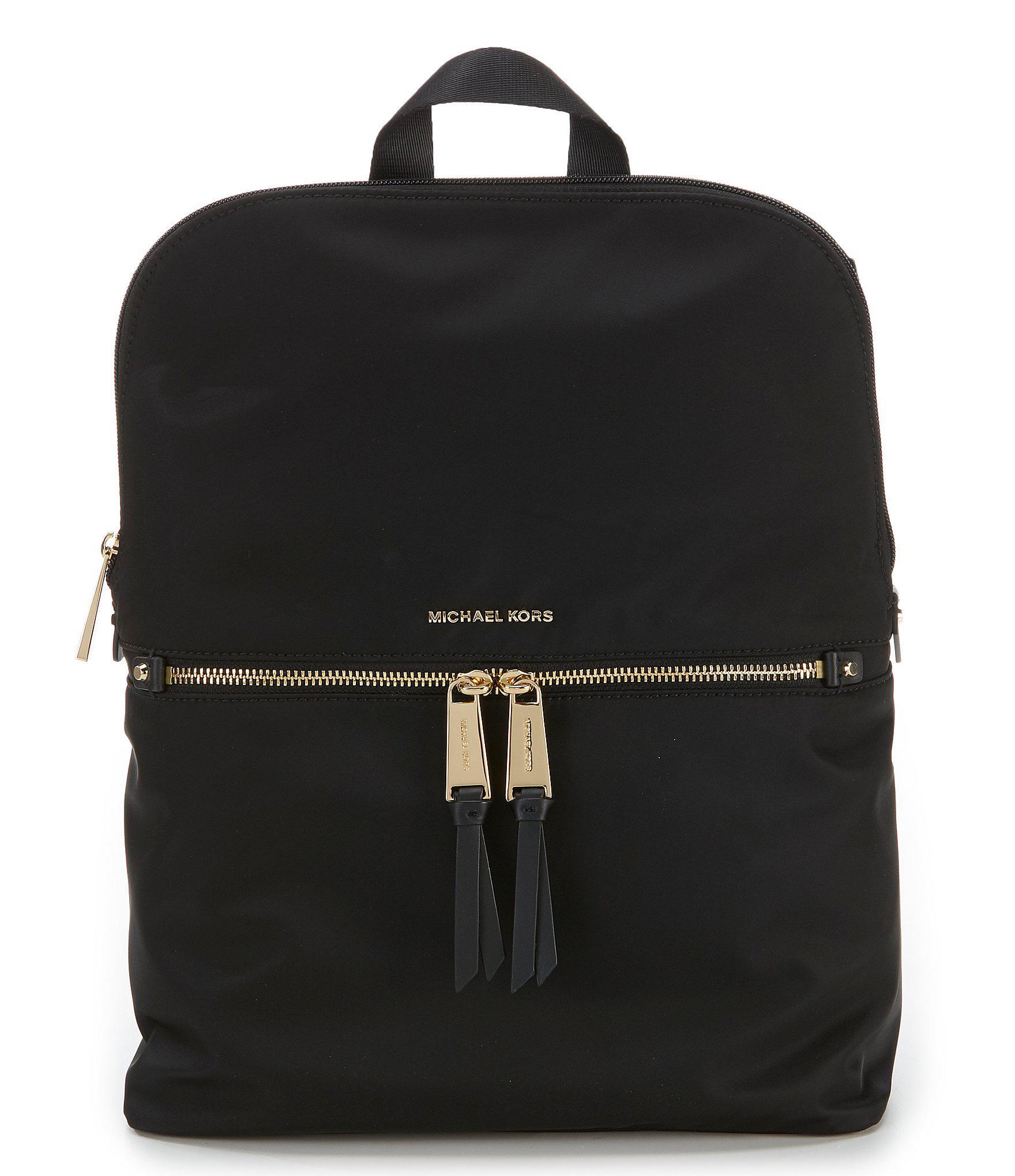 c720e54db1c3 MICHAEL Michael Kors. Women's Black Polly Medium Nylon Slim Backpack