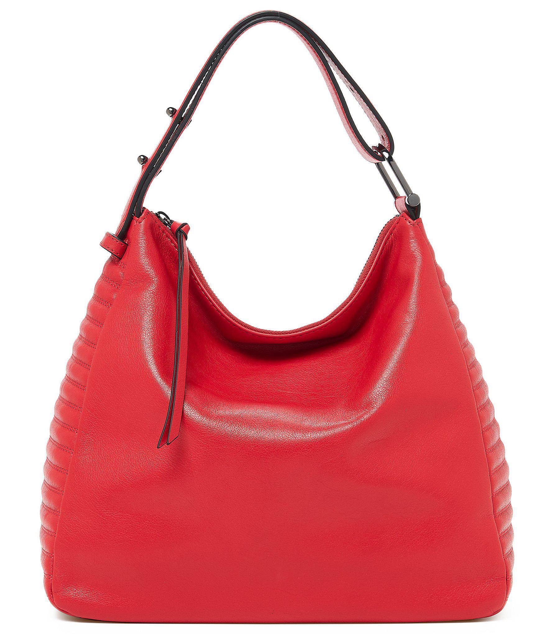 Botkier - Red Moto Top Zip Hobo Bag - Lyst. View fullscreen df7f6b9eb8974