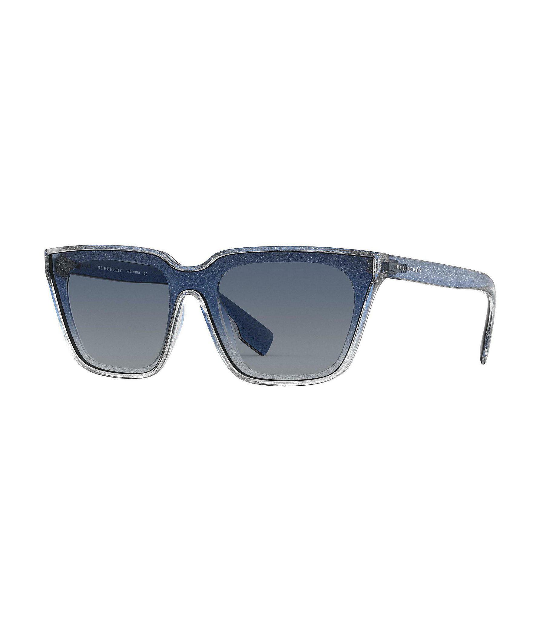 74b251665d0b Lyst - Burberry Comet Square Glitter Sunglasses in Blue