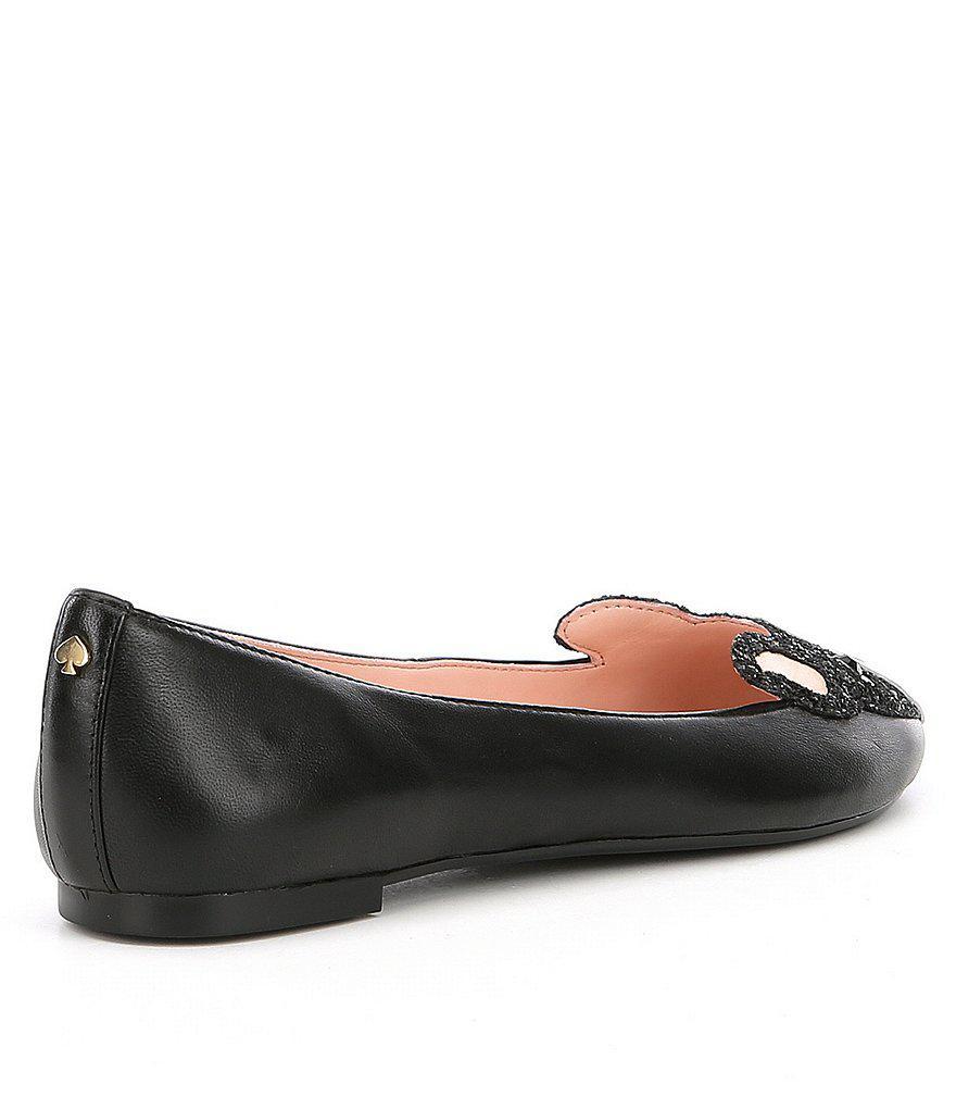 c96dc7782ba6 Lyst - Kate Spade Winthrop Dog Flats in Black