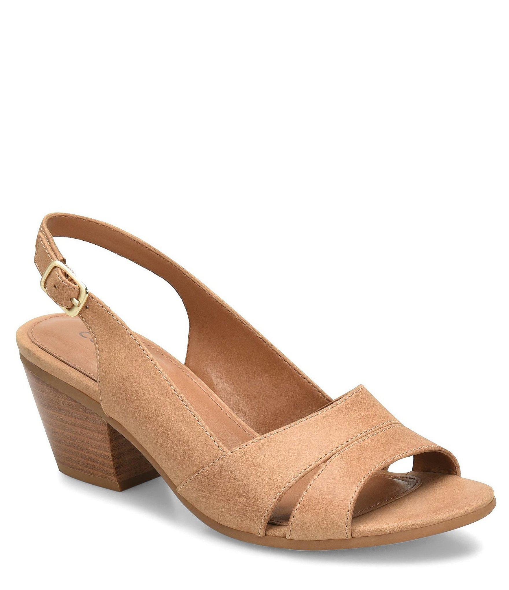 08e3f662cf8 Comfortiva. Women s Alonna Leather Block Heel Sandals