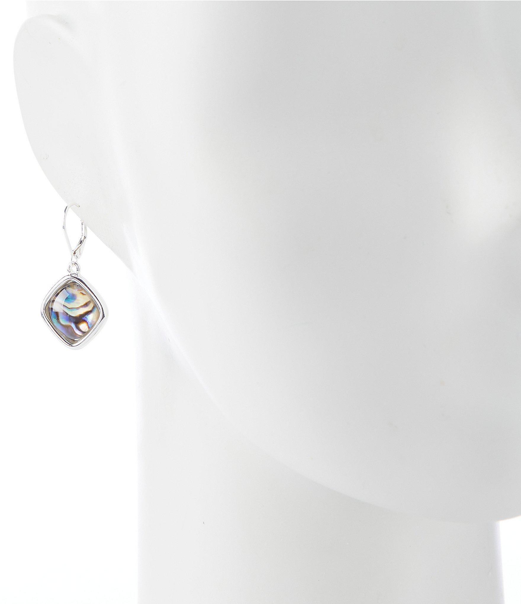 44b29f46e Dillard's - Metallic Abalone Diamond Drop Earrings - Lyst. View fullscreen