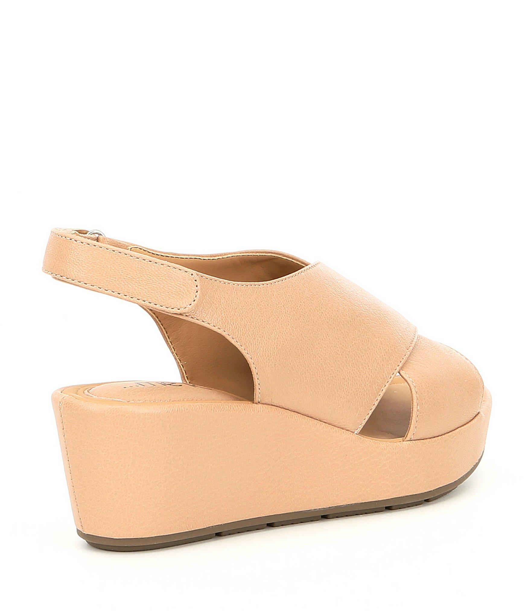 f3b1240ffe Me Too - Multicolor Arena Leather Wedge Sandals - Lyst. View fullscreen