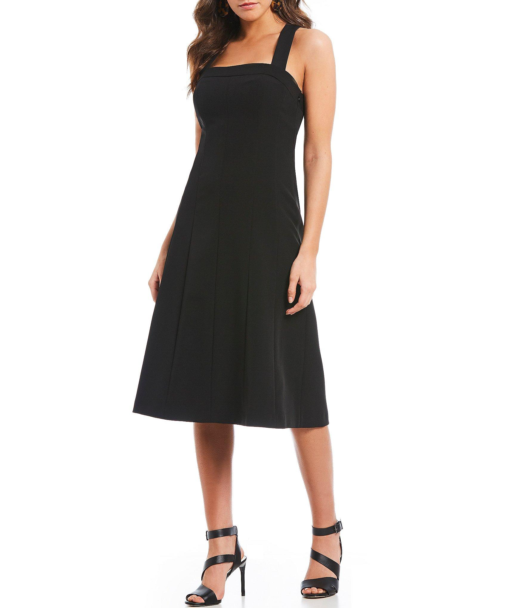 e944c3b1101 Gianni Bini - Black Gia Sleeveless Square Neckline Midi Dress - Lyst. View  fullscreen