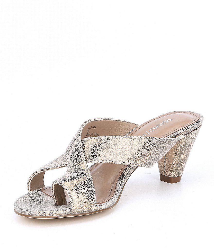 Vilo Metallic Leather Dress Sandals fMbNn