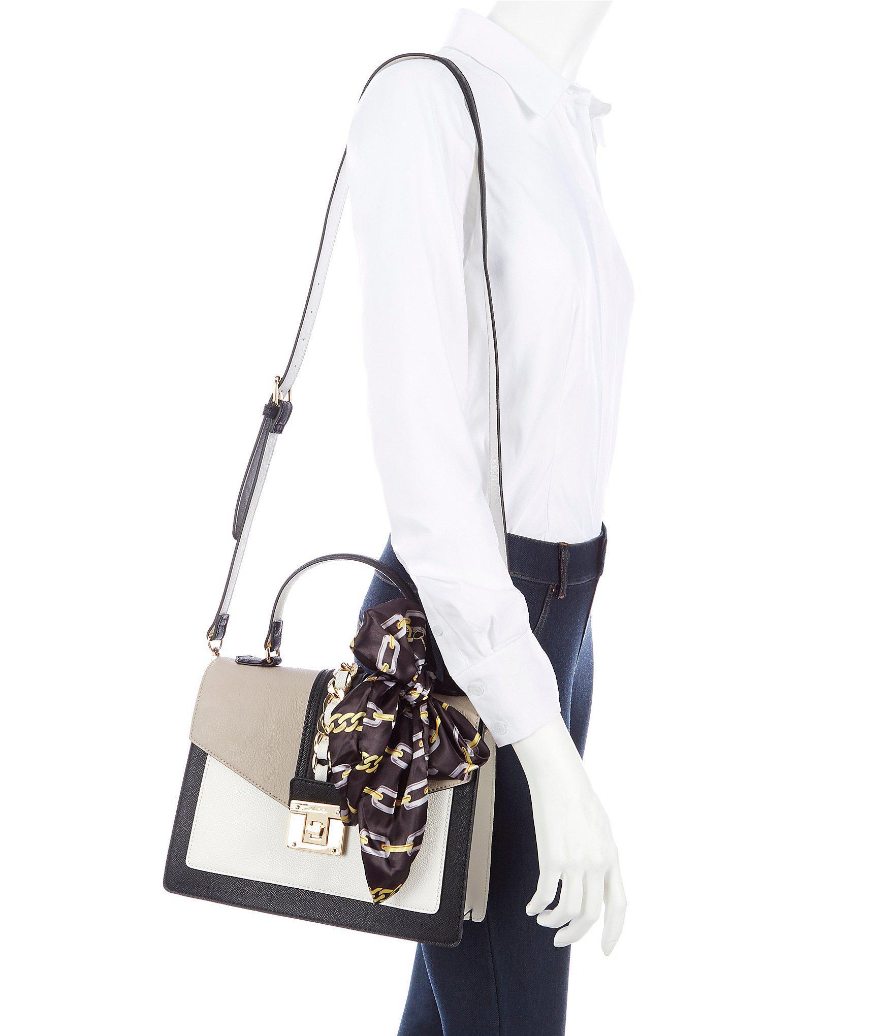 226e1fc439 Lyst - ALDO Glendaa Small Top Handle Taupe Colorblock Handbag