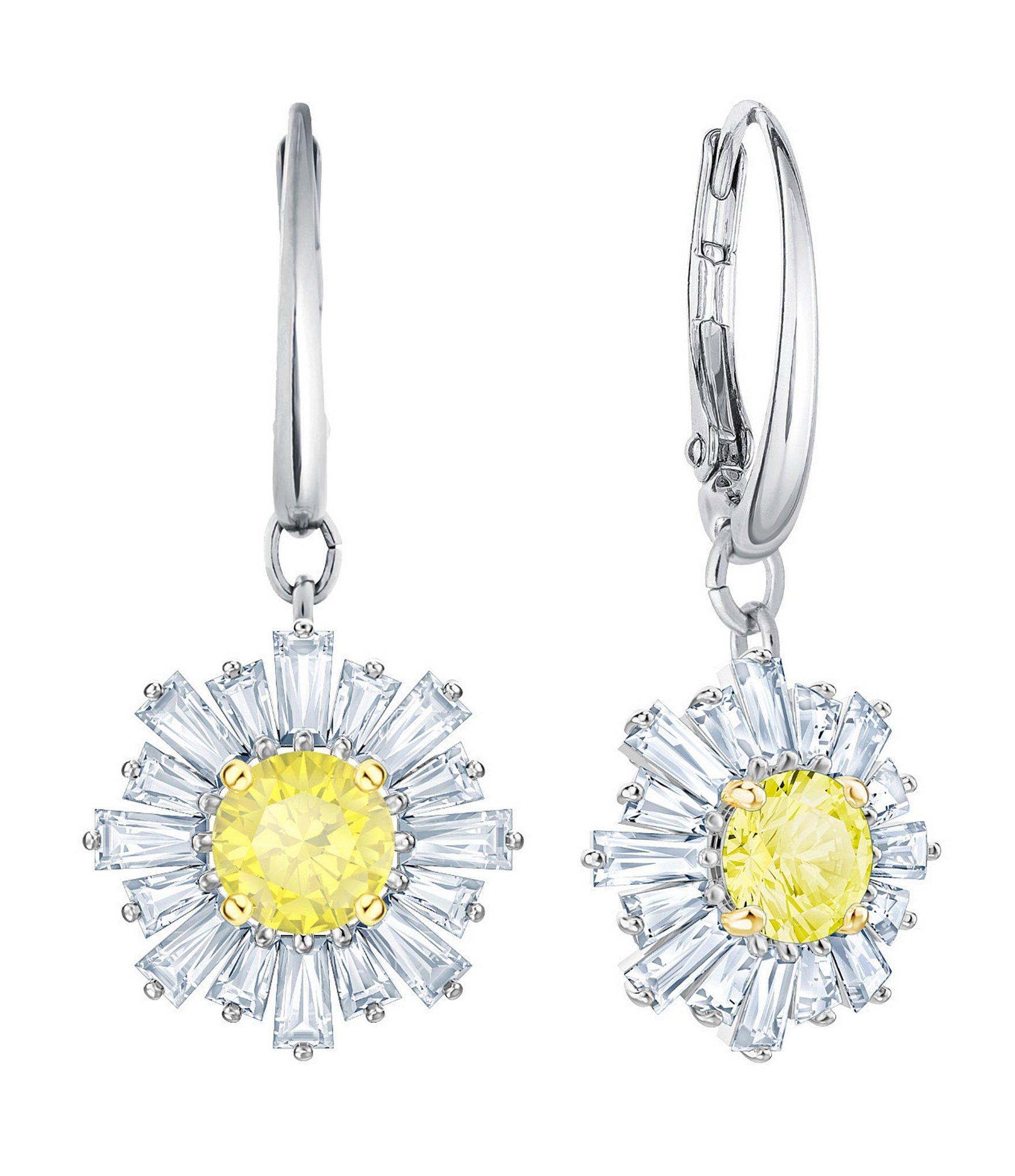 f13ab5821 Lyst - Swarovski Sunshine Pierced Lever Back Drop Earrings