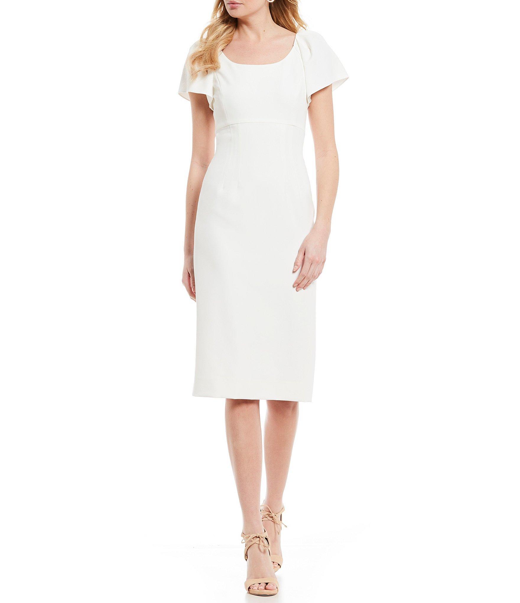 3dd5b9dd16f6 Lyst - Antonio Melani Karoline Sleeveless Sheath Dress in White