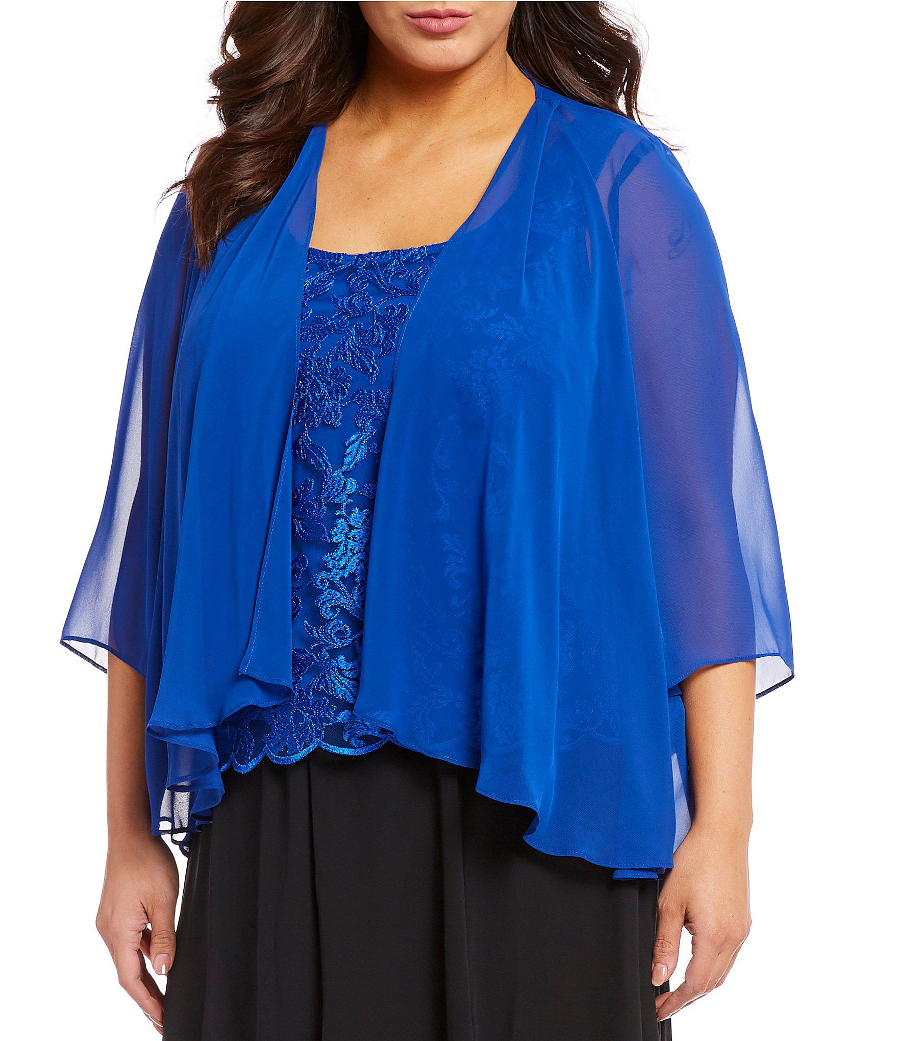 9acdd32f933 Lyst - Alex Evenings Plus Size Embroidered Lace 2-piece Twinset in Blue