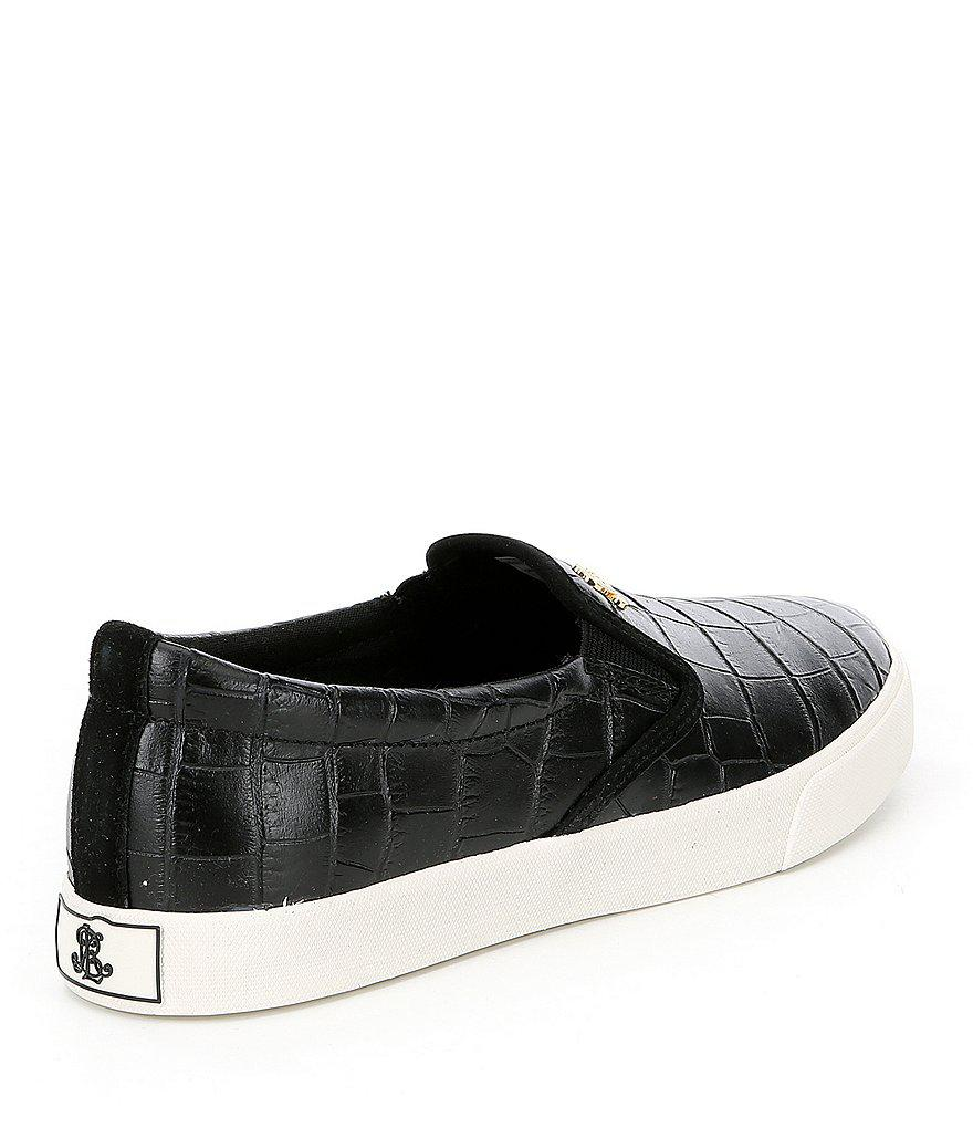 Ria Croc Leather Slip On Sneakers 5rPi2
