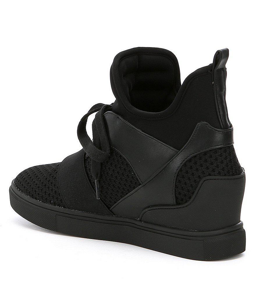 7eee2e62707 Steve Madden Lexi Wedge Sneakers in White - Lyst