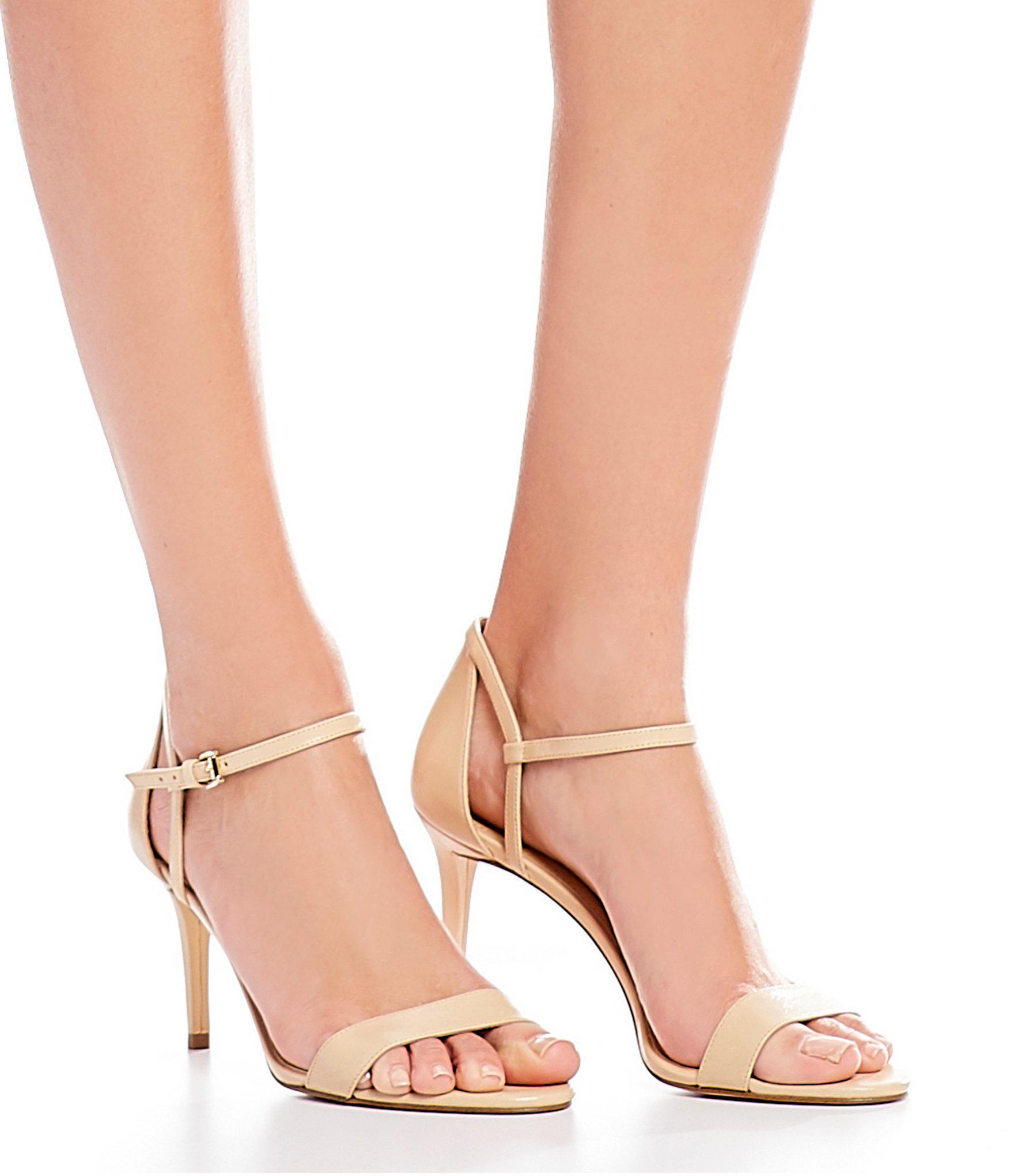 a4c1442851e3 Lyst - MICHAEL Michael Kors Simone Mid Dress Sandals in Natural