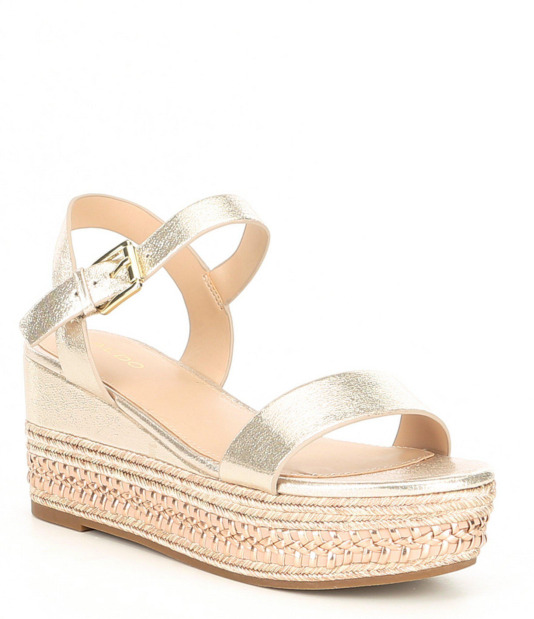 8f3964ee4e38 Lyst - ALDO Mauma Espadrille Sandals in Metallic