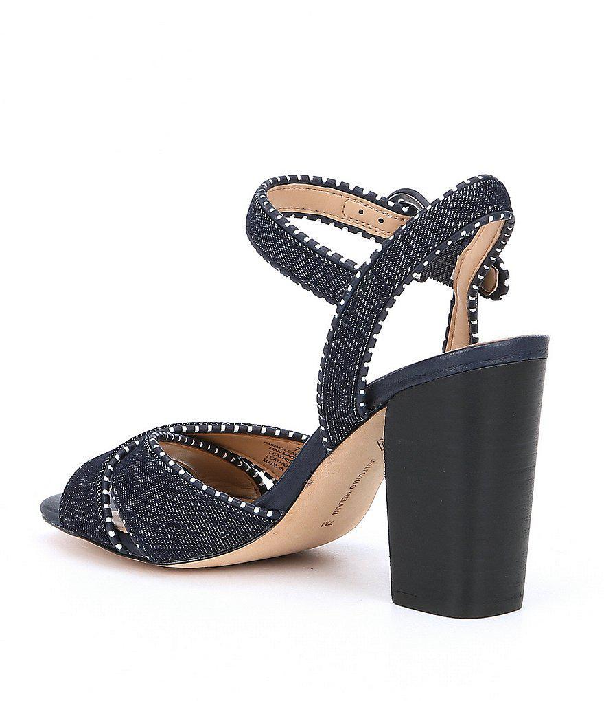 Stacked Mirriah Whipstitch Ankle Strap Block Heel Dress Sandals 7ke1IZZ