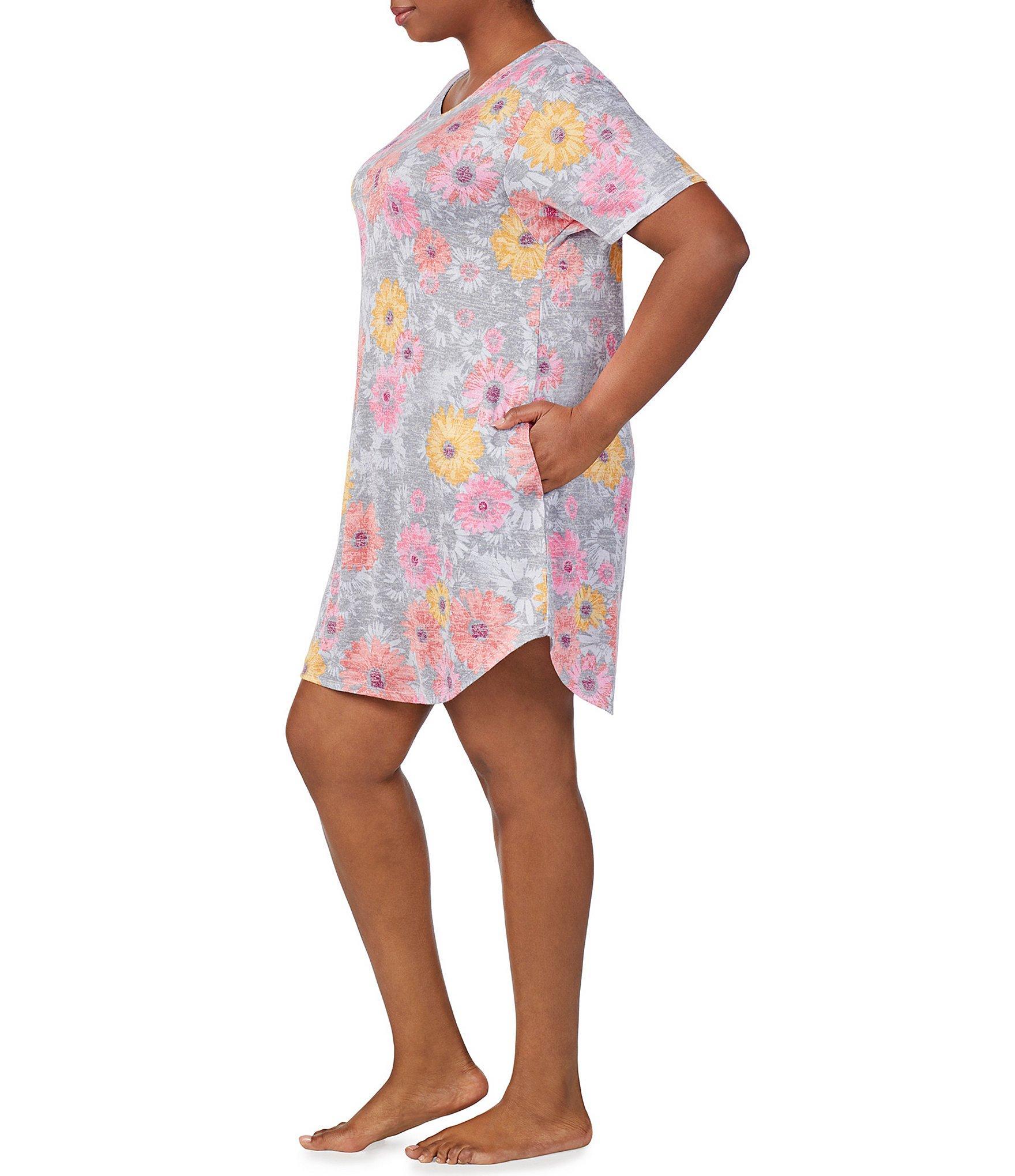 6df3299d43 Kensie - Multicolor Plus Floral-print Sweater Knit Sleep Top - Lyst. View  fullscreen