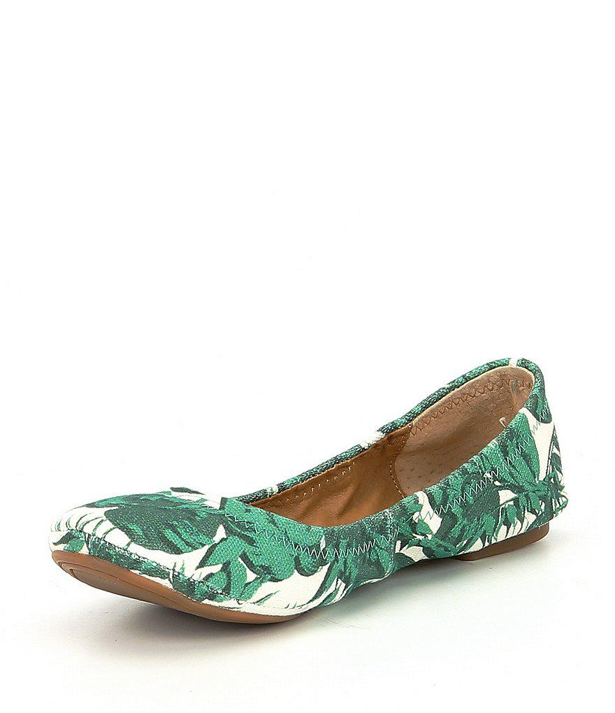 Lucky Brand Leaf Print Ballet Flats OLy5wifKW