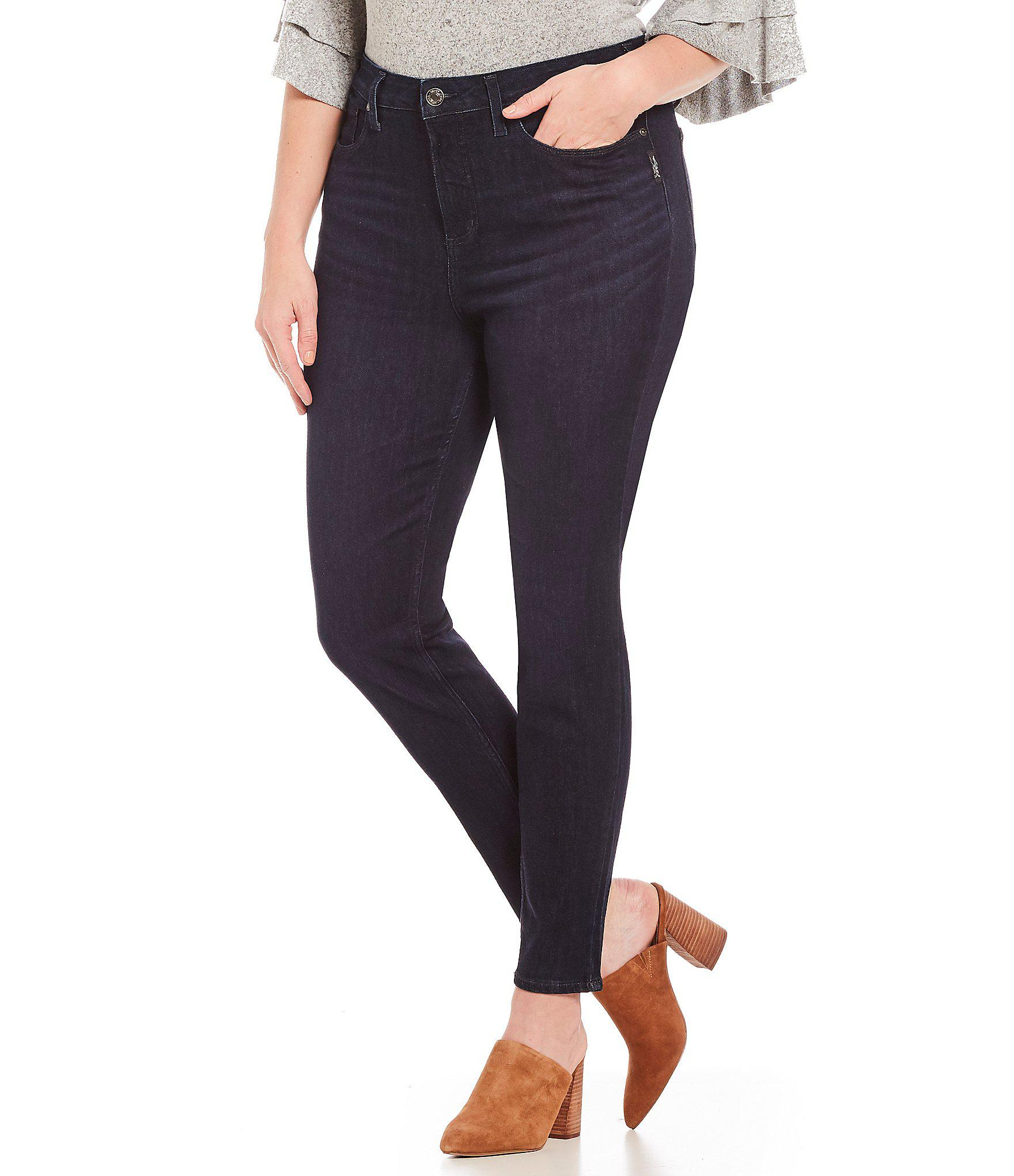 b46787bf Lyst - Silver Jeans Co. Plus Size Mazy Skinny Jeans in Blue - Save ...