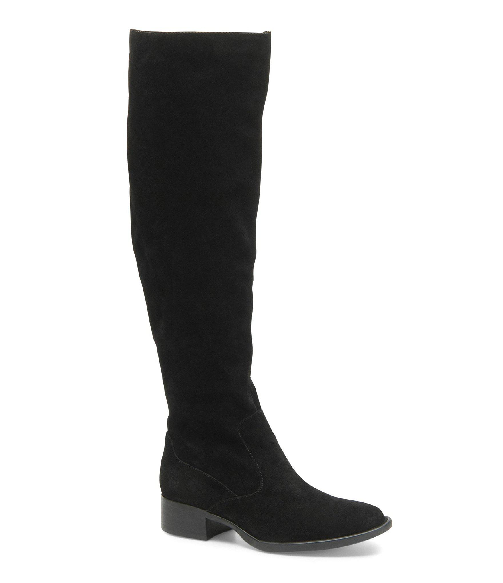 c6a7d83a9a7 Lyst - Born Cricket Tall Suede Block Heel Boots in Black - Save 61%