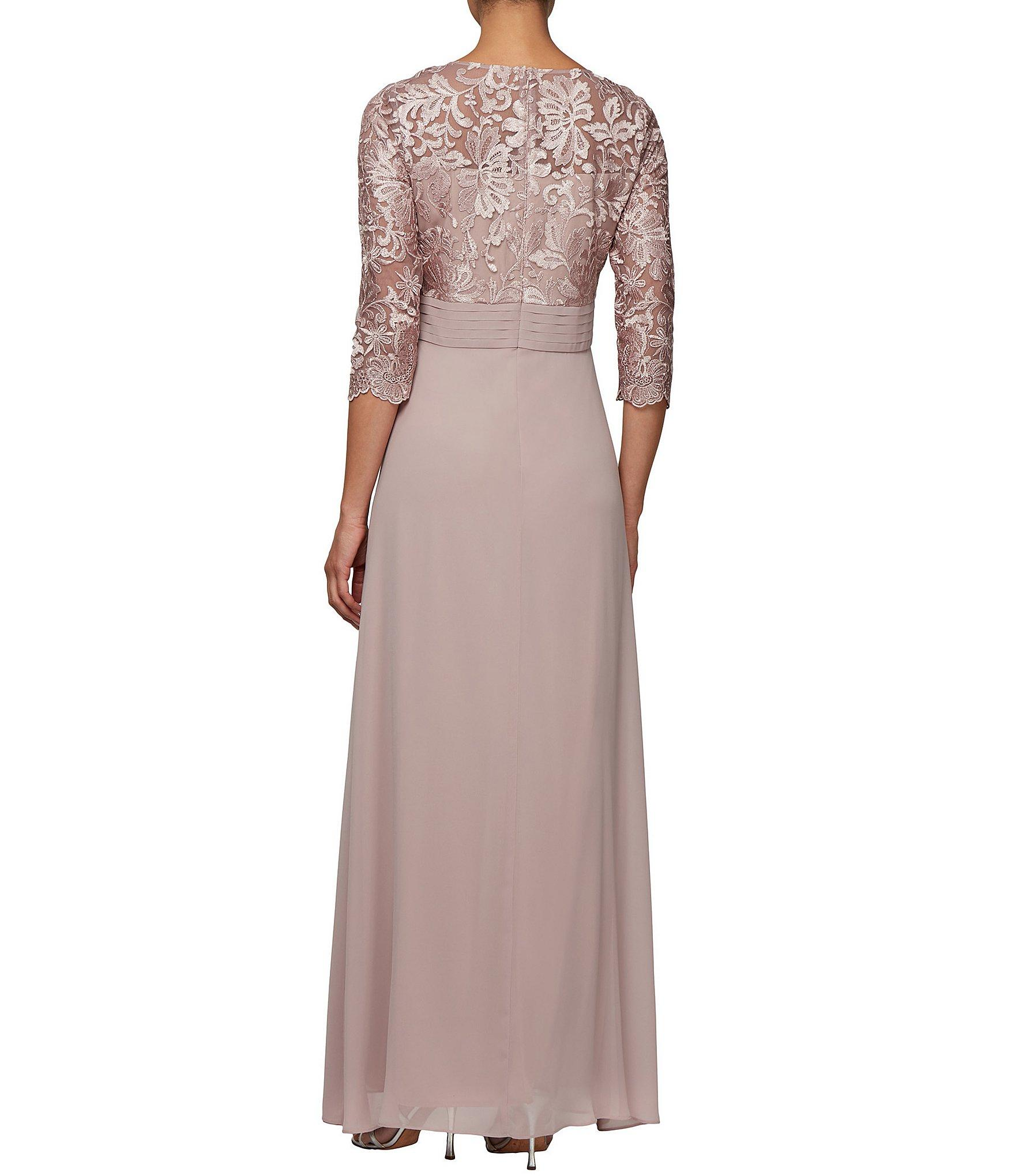 4cfa80be Alex Evenings - Multicolor Embroidered Lace A-line Long Gown - Lyst. View  fullscreen