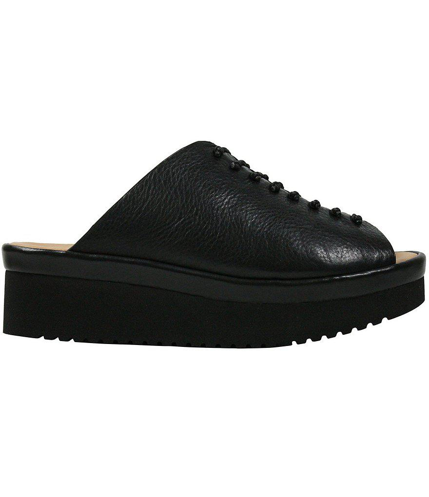 L Amour Des Pieds Arienne Leather Platform Slip-Ons JTOZ0v57