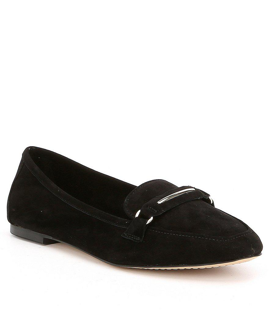080684013ab Lyst - Gianni Bini Alistor Suede Loafers in Black
