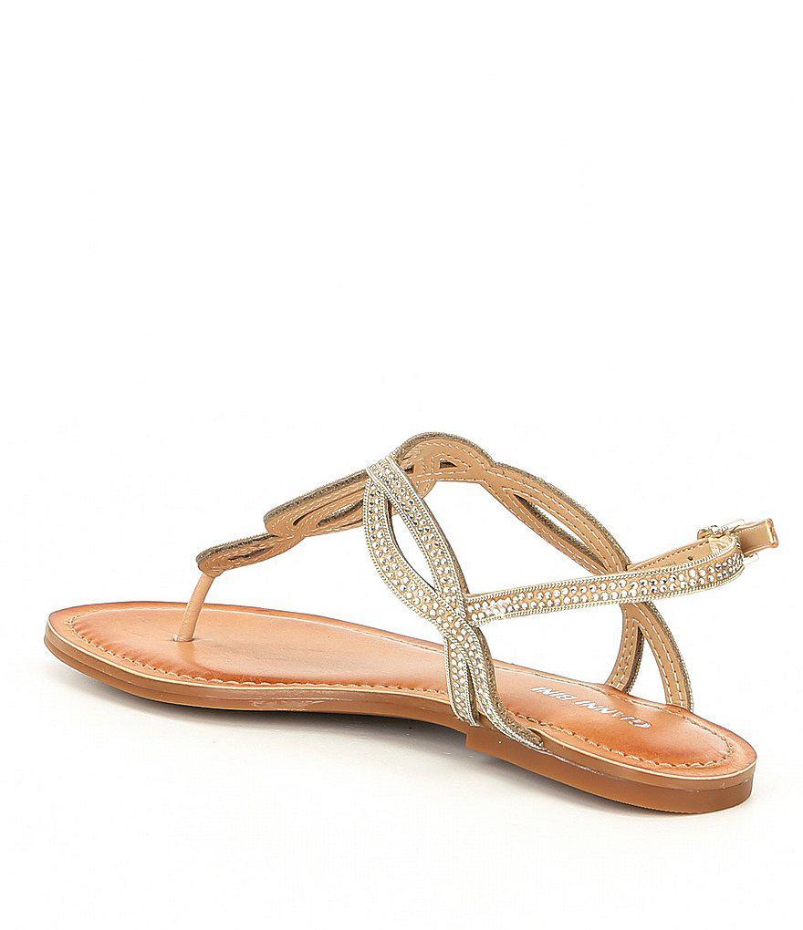 Starlitez Jeweled Nubuck Flat Sandals T9Kg4