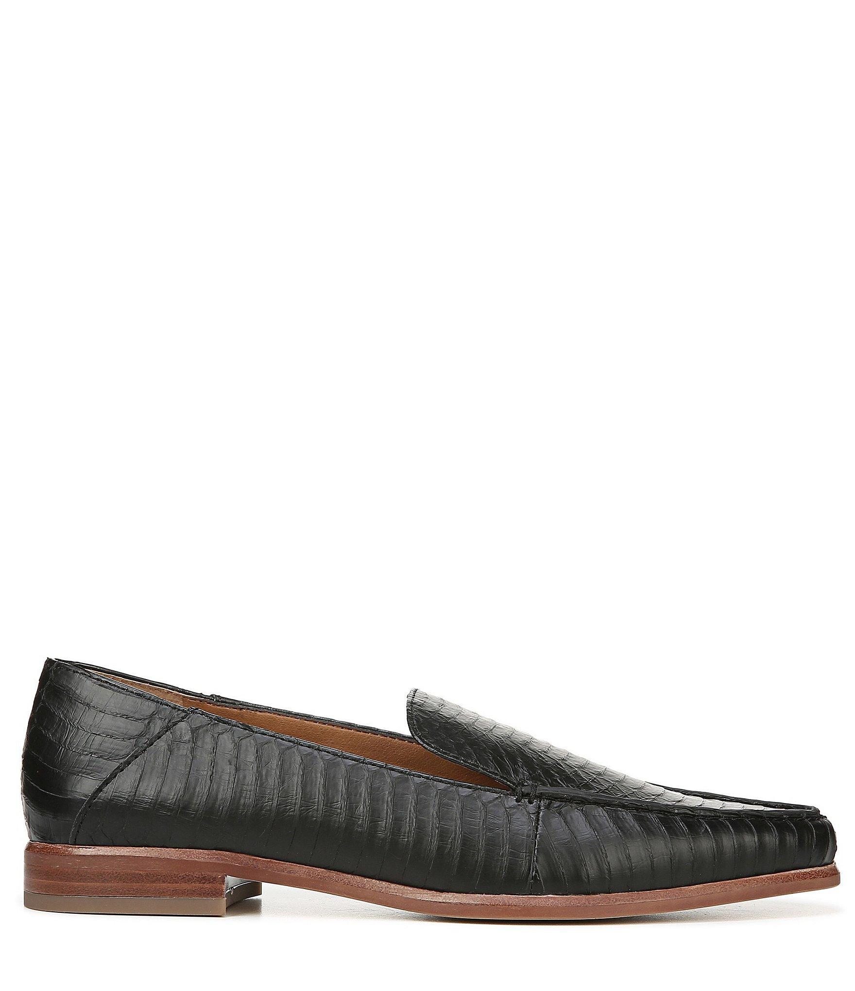 e6ec071103b Franco Sarto - Black Sarto By Portia 3 Leather Block Heel Loafers - Lyst.  View fullscreen