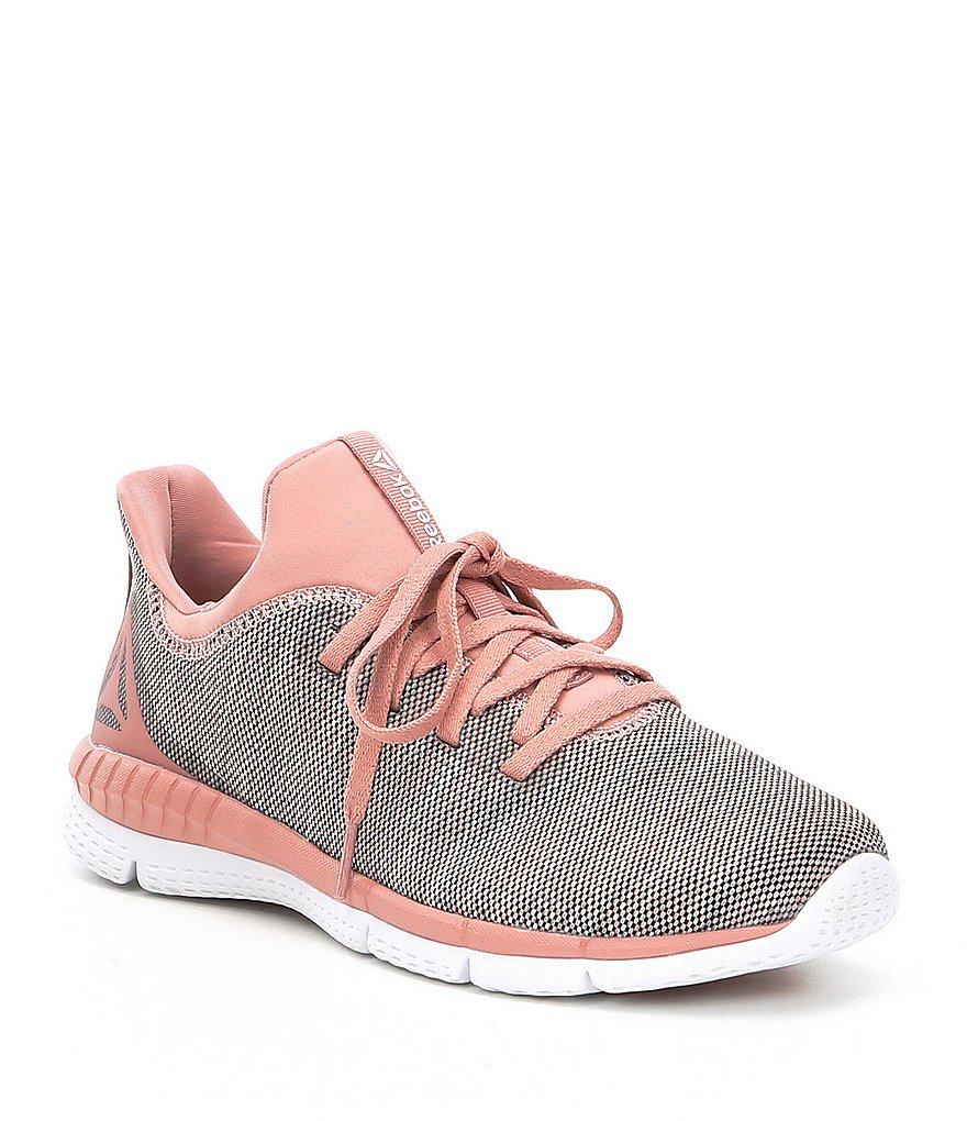 a56fcbb983e5 Lyst - Reebok Women s Print Her 2-0 Running Shoes in Pink