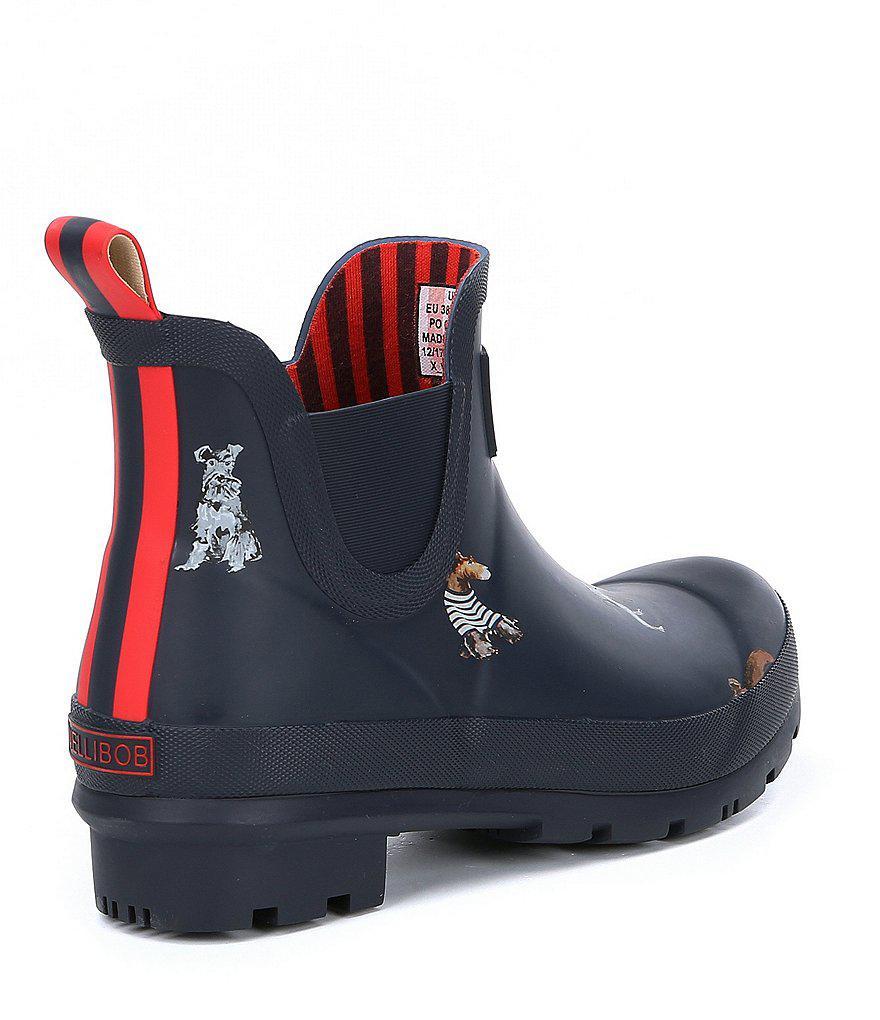 Joules Wellibob Dog Print Short Rain Boots TwtDzaXy