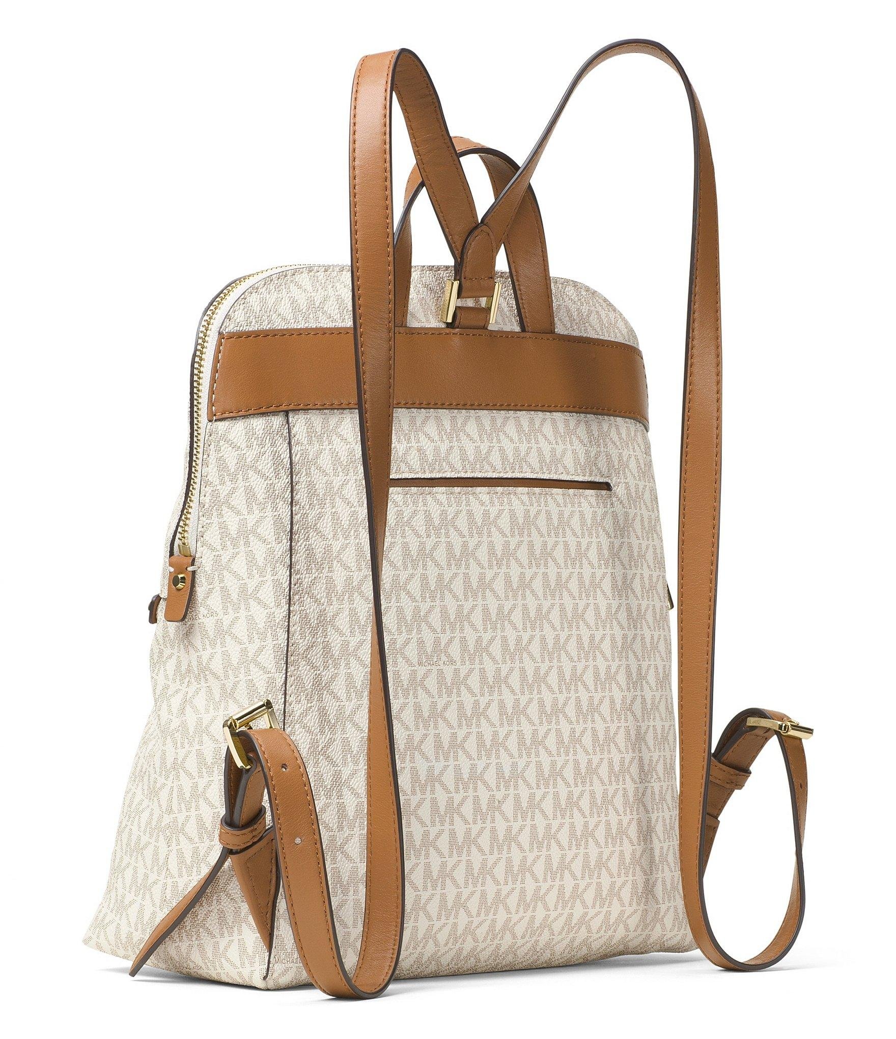 f411cd52b4d0c Lyst - MICHAEL Michael Kors Rhea Signature Zip Slim Backpack