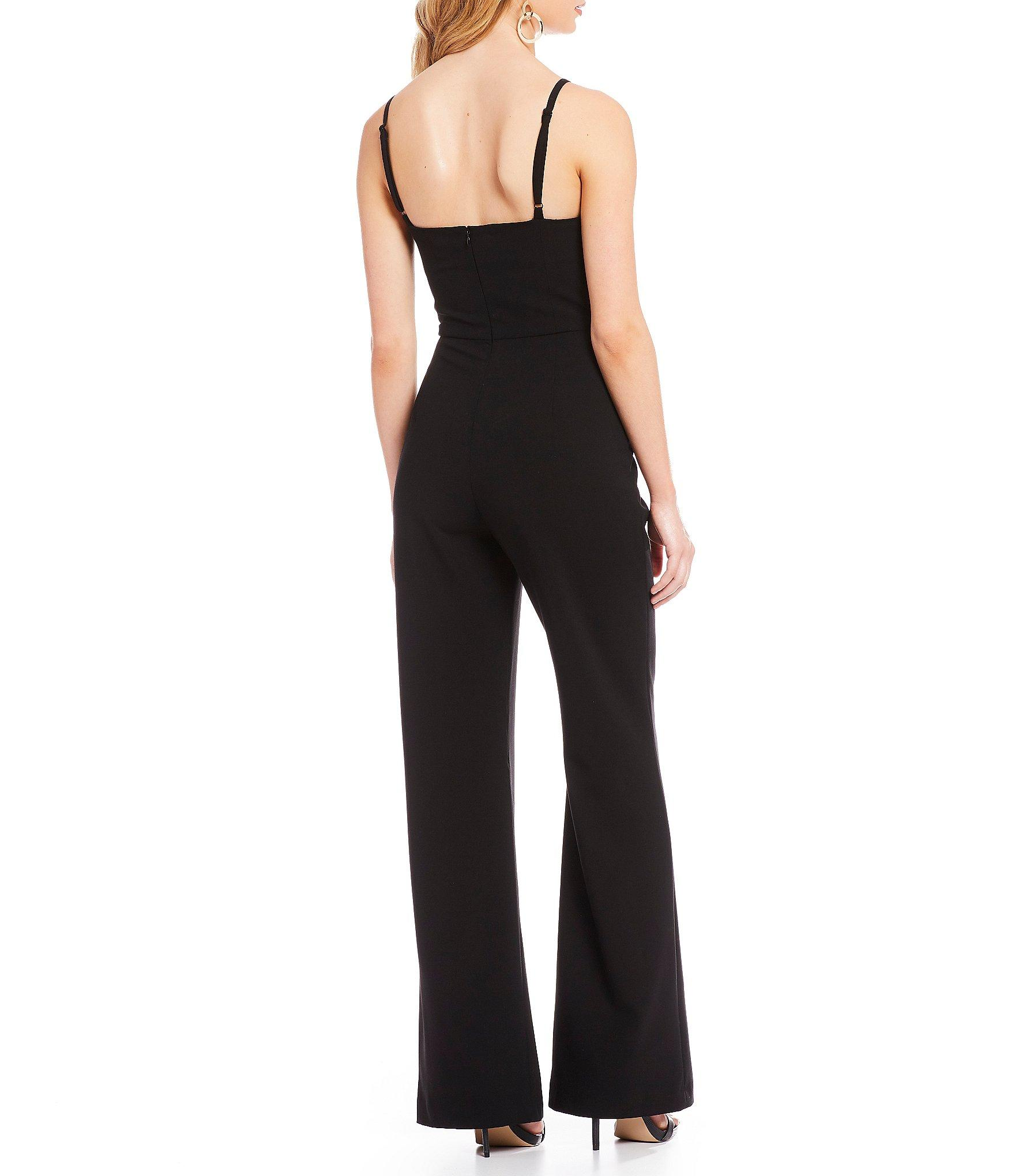 0eb38fa9bc6 French Connection - Black Whisper High Square Neck Jumpsuit - Lyst. View  fullscreen