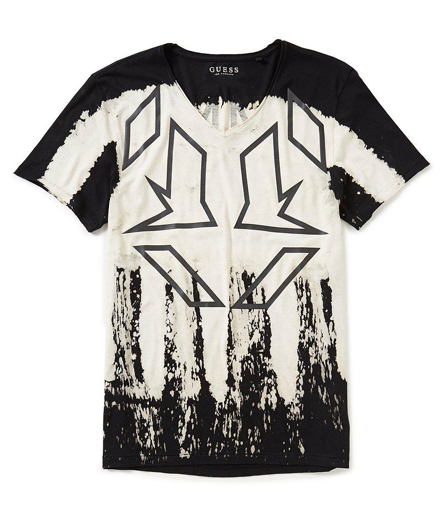 1001bc1ef0cb Lyst - Guess Drips V-neck Graphic T-shirt in Black for Men