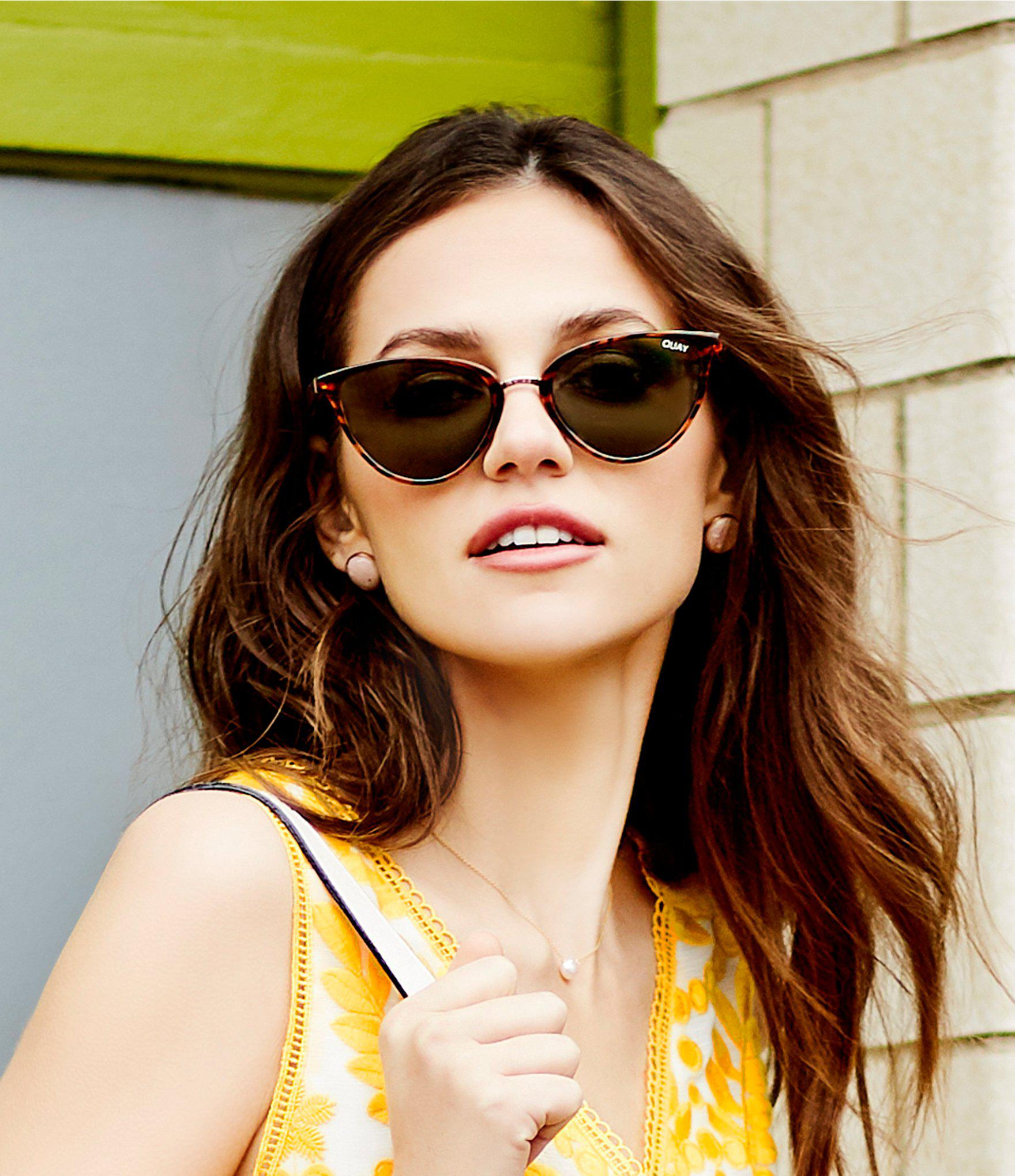 c6b03cc8058f9 Quay - Multicolor Rumors Round Cat-eye Sunglasses - Lyst. View fullscreen