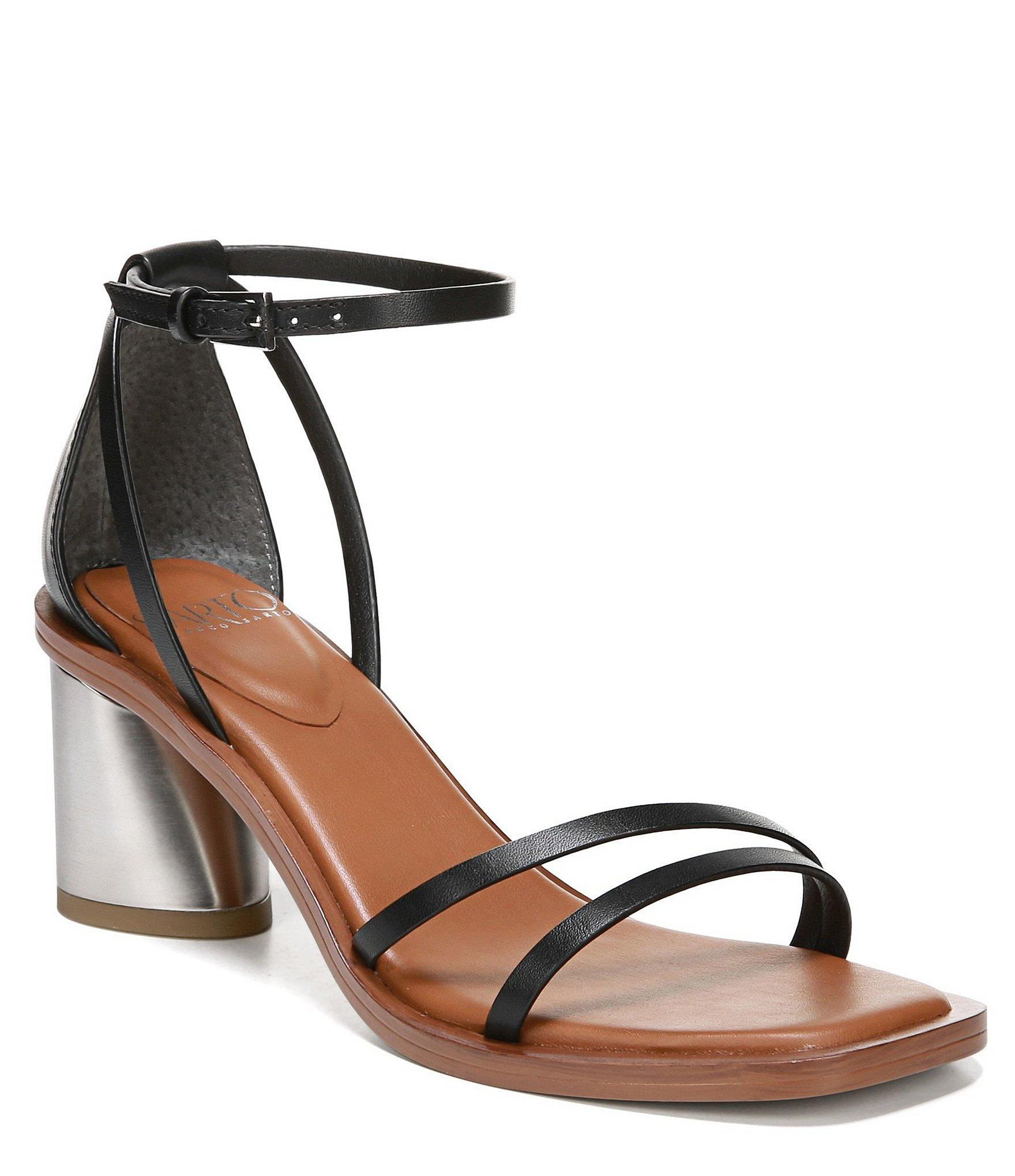 aff0c79a8e1 Lyst - Franco Sarto Sarto By Ronelle Leather Block Heel Sandals in Black