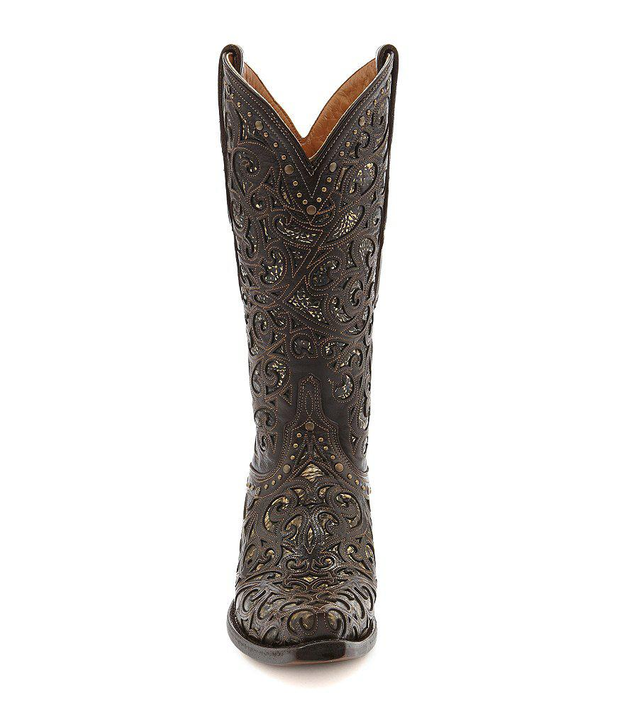Lucchese Since 1883 Lasercut Block Heel Boots M8zmo