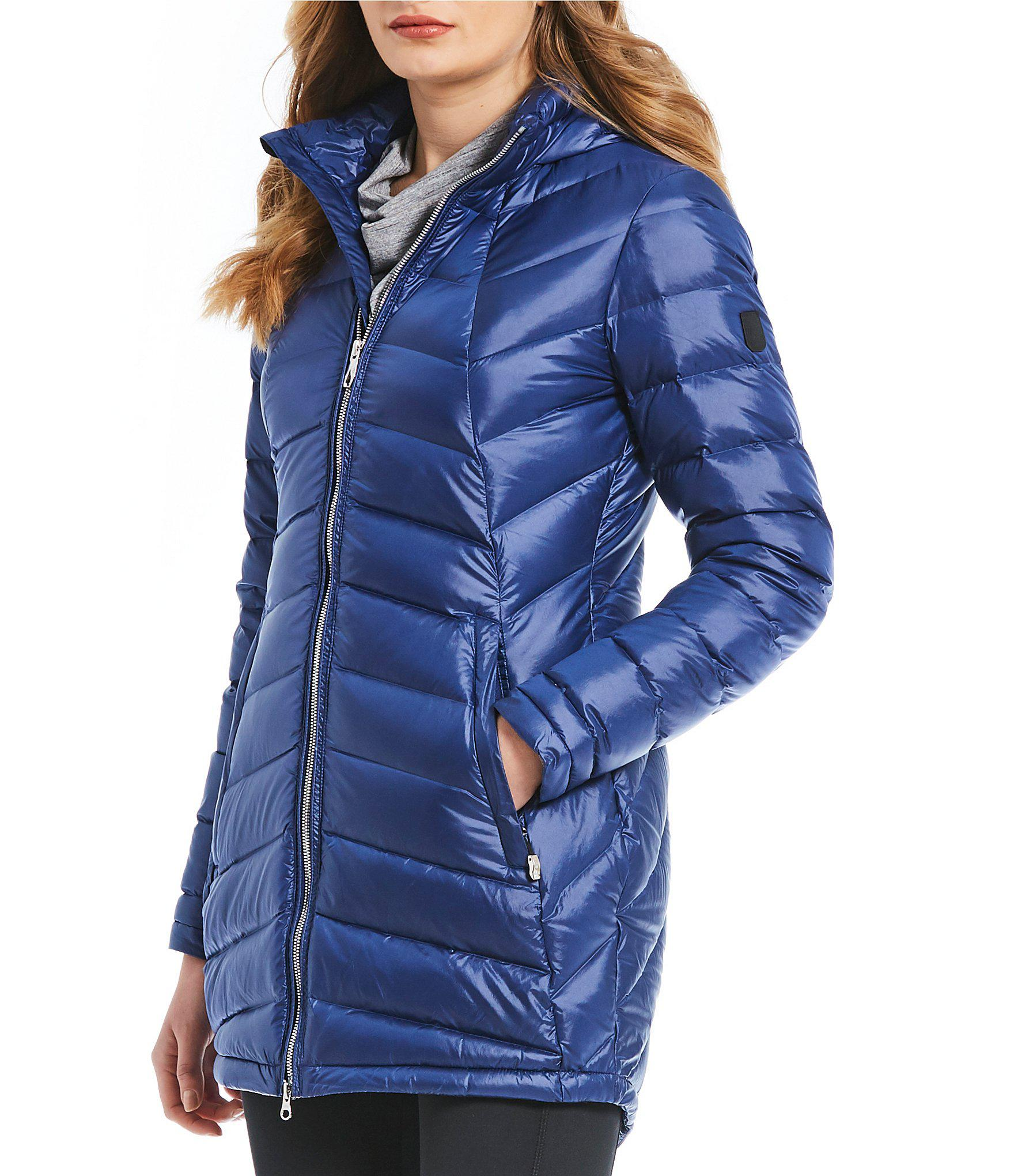 743762510 Lyst - Spyder Syrround Long Down Jacket in Blue