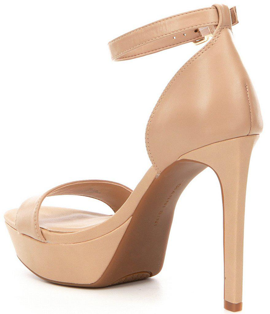 Gianni Bini Pamona Nubuck Ankle Strap Platform Dress Sandals MyMVxI