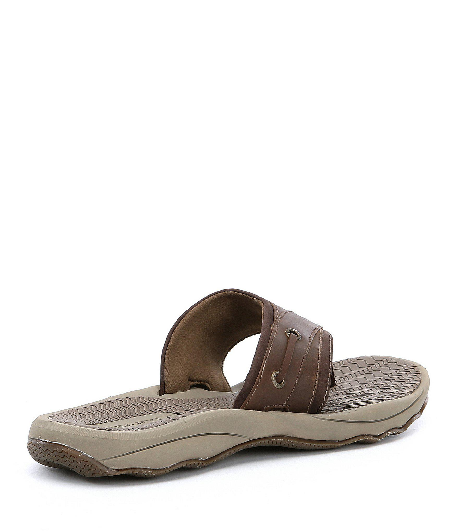 c15349f21f6 Sperry Top-Sider - Brown Outer Banks Flip-flops for Men - Lyst. View  fullscreen