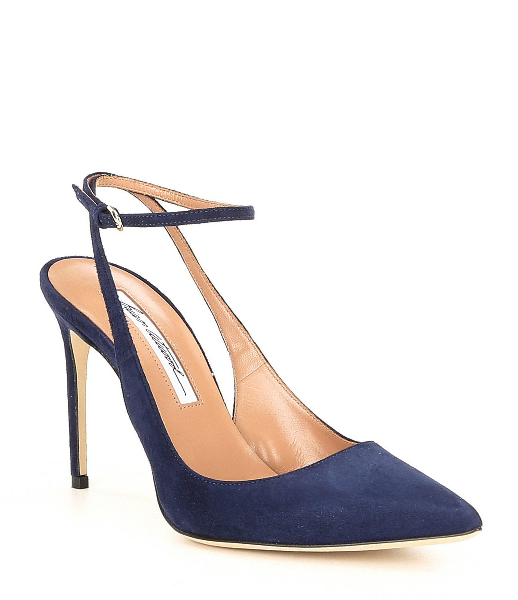 e0233571263a Lyst - Brian Atwood Vicky Pump Midnight Navy Suede in Blue - Save 30%