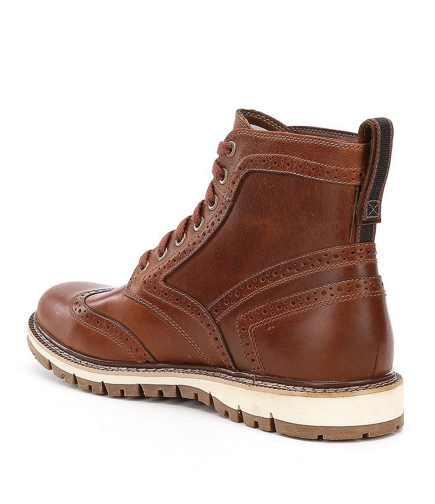 ee44e110f12e Lyst - Timberland Men s Britton Hill Wingtip Boots in Brown for Men