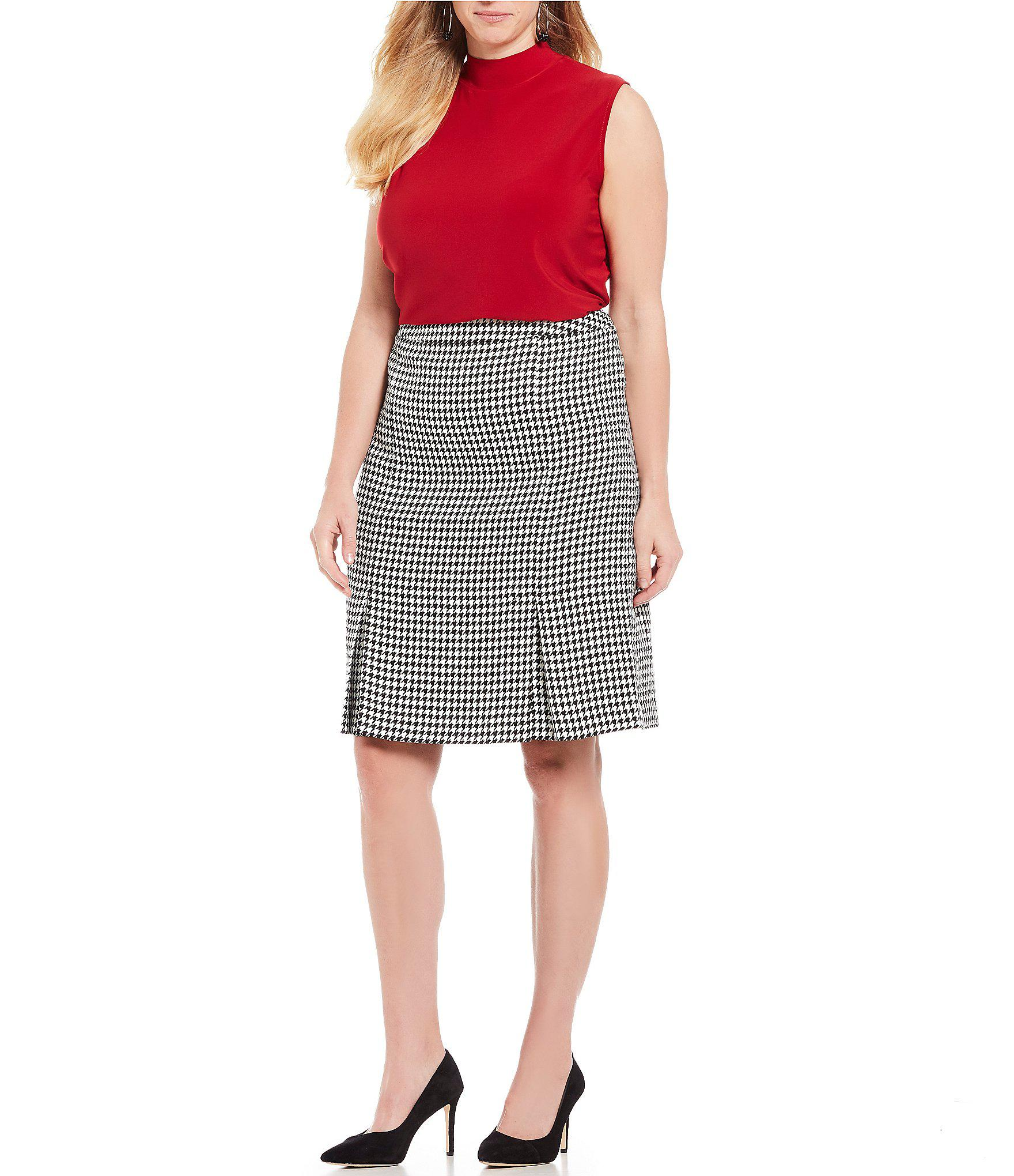 113745edbd7 Kasper - Red Plus Size Mock Neck Sleeveless Matte Jersey Top - Lyst. View  fullscreen