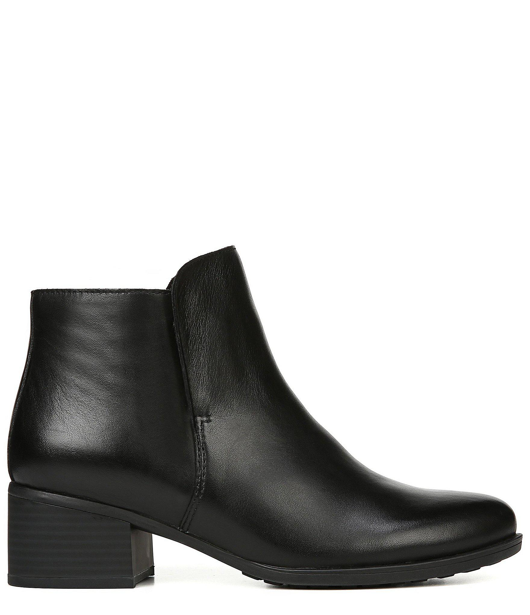 65de0f86afac Lyst - Naturalizer Deena Waterproof Leather Block Heel Booties in Black
